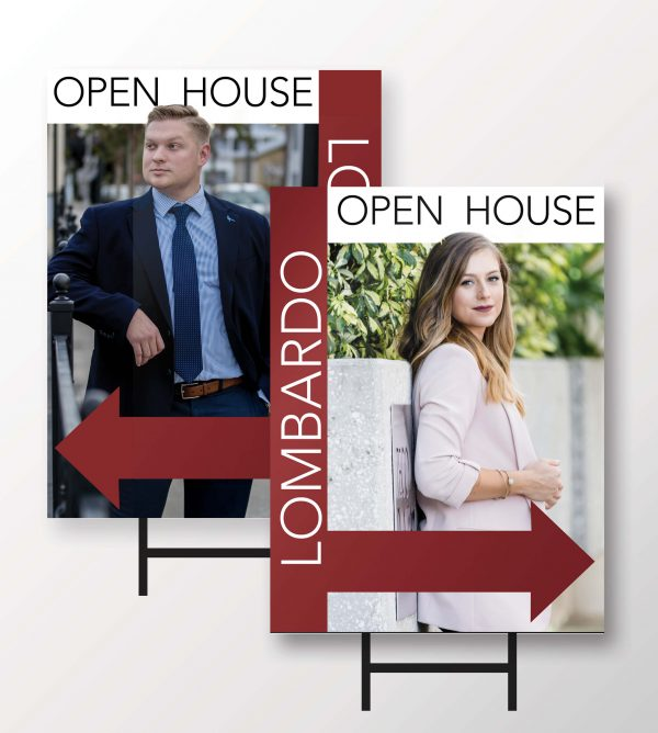 Lombardo Open House Signs