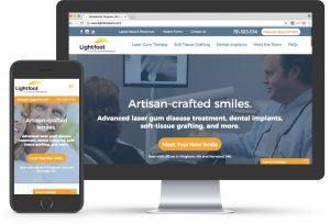 dentist website design periodontist lightfoot center for laser periodontics lanap